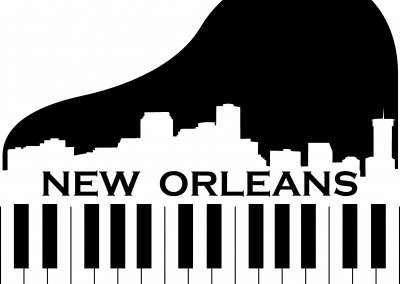 New Orleans piano skyline