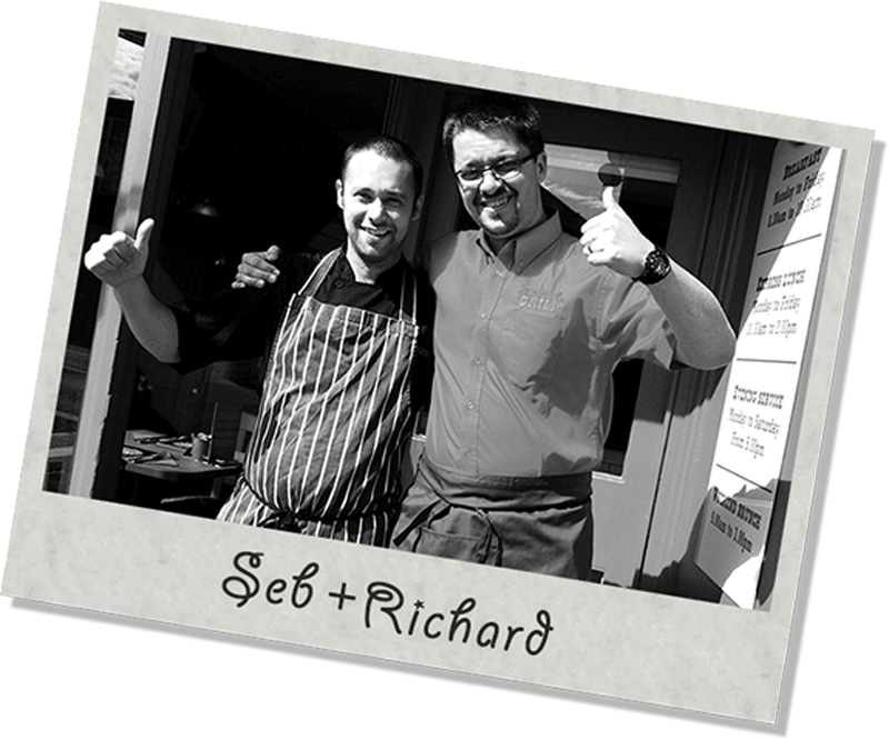 Seb and Richard Maggie's Grill